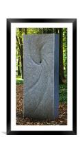 Slate sculpture, Framed Mounted Print