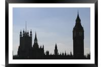 Houses of Parliament 1, Framed Mounted Print