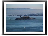 Sailing Around Alcatraz, Framed Mounted Print