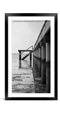 Pier at Low Tide, Framed Mounted Print
