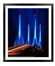 Red White and Blue, Framed Mounted Print