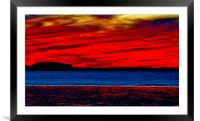 Bold Afterglow, Framed Mounted Print