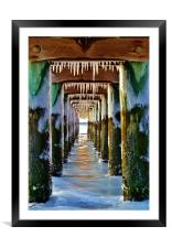 Pier with Teeth, Framed Mounted Print