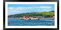 Paddle Steamer The Waverley, Framed Mounted Print