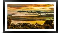 Sunset over Arran and The Cumbraes, Framed Mounted Print