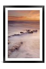 waterfalls on the rocks, Framed Mounted Print