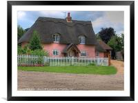Country Cottage, Framed Mounted Print