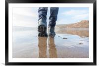 Isle of Wight Walking, Framed Mounted Print