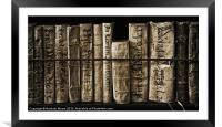 Ancient books, Framed Mounted Print