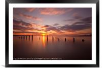 The tide is turning, Framed Mounted Print