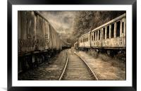 End of the Line., Framed Mounted Print