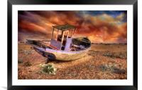 Fishing for Fire, Framed Mounted Print
