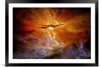 """""""Fire in the Sky"""", Framed Mounted Print"""