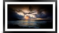 Lancaster Bombers, Framed Mounted Print
