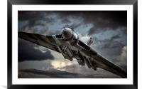 Vulcan XH558 , Framed Mounted Print