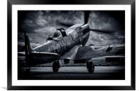 Spitfire, Framed Mounted Print