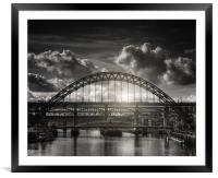 :Tyne bridge:, Framed Mounted Print