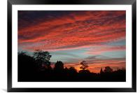 Mackerel Sky at Sunset, Framed Mounted Print