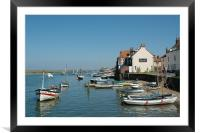 Wells Next The Sea Harbour, Framed Mounted Print