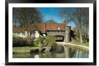 Pulls Ferry, Norwich, Framed Mounted Print