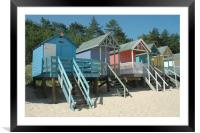 Beach Huts, Wells, Norfolk, Framed Mounted Print