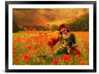 Red Dream, Framed Mounted Print