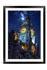 Top of the tower at Liverpool, Framed Mounted Print