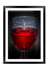 Red red wine, Framed Mounted Print