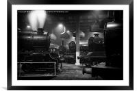Morayshire smoking in the roundhouse., Framed Mounted Print