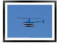 R44 Helicoper With Floats, Framed Mounted Print