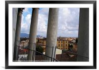 View From Leaning Tower Pisa, Framed Mounted Print