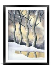 Frozen Forest, Framed Mounted Print