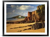 UK,Devon,Bigbury On Sea & Burgh Island, Framed Mounted Print