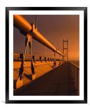 Humber Bridge Sunset, Framed Mounted Print