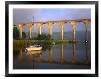 Calstock Viaduct & River Tamar, Framed Mounted Print