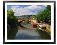 North Parade Bridge & River Avon, Framed Mounted Print