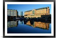 Victoria Quays & Hilton Hotel,Sheffield, Framed Mounted Print