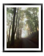 Foggy Lane Near Castleton, Framed Mounted Print