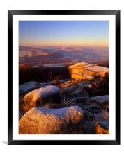 Millstone Edge & Hope Valley, Framed Mounted Print