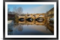 Norfolk Bridge & River Don, Sheffield, Framed Mounted Print