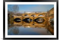 Norfolk Bridge Train & Reflections, Framed Mounted Print