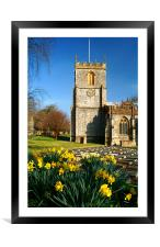 St Marys Church, Chard, Somerset, Framed Mounted Print