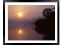Chard Reservoir Sunrise, Framed Mounted Print