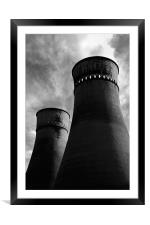 Tinsley Cooling Towers, Framed Mounted Print