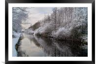 Sheffield Canal, Framed Mounted Print