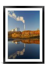Incinerator Reflections in River Don, Framed Mounted Print