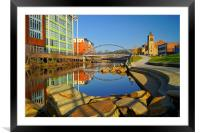 Pocket Park Next to River Don,Sheffield, Framed Mounted Print