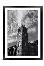 Firth Park Clock Tower, Sheffield, Framed Mounted Print