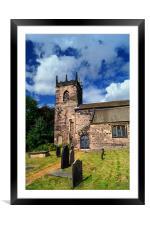 St John the Baptist Church,Hooton Roberts, Framed Mounted Print