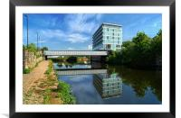 River Don in Rotherham, Framed Mounted Print